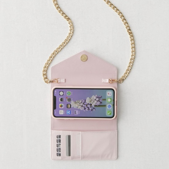 Sonix Pink Blush Gold Crossbody Wallet Phone Case